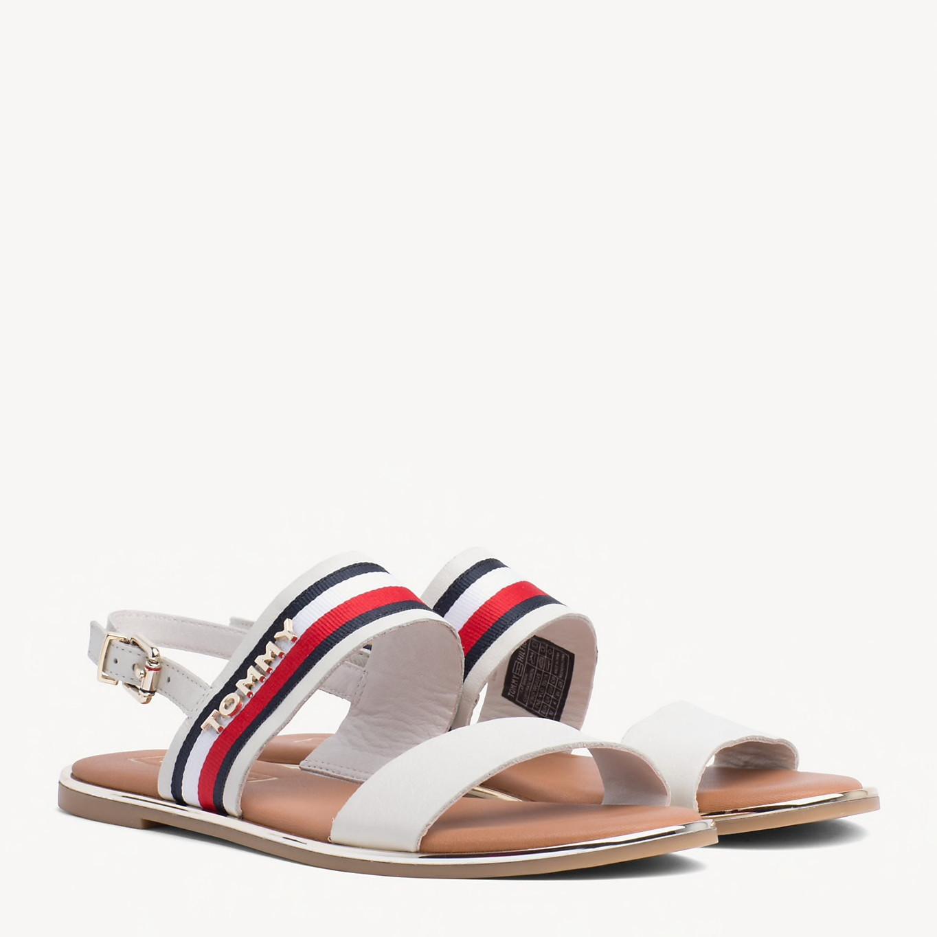 Whisper White Flat Sandal