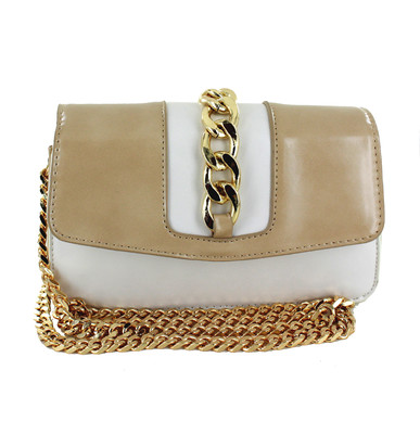 Sand Leather Clutch Bag