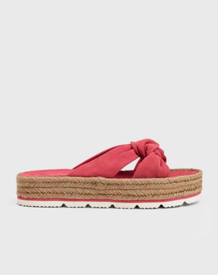 Cape Coral - Watermelon Red Suede Slider