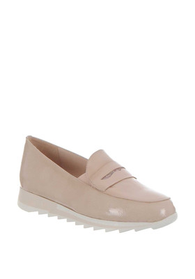 Nude Leather Slip On