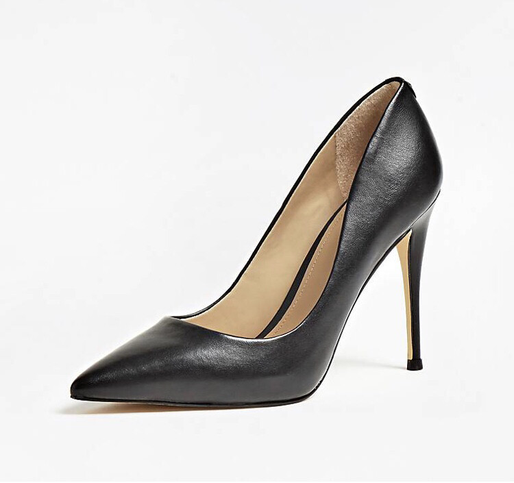 Belan Black Leather Heel