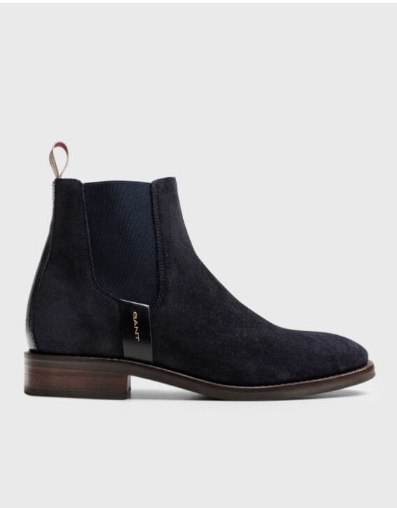 Fay Suede Navy Ankle Boot