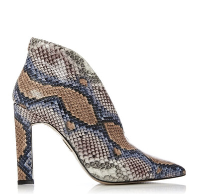 Weldi Multicoloured Snake Print V Cut Shoe Boot