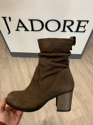 Taupe Suede Ankle Boot