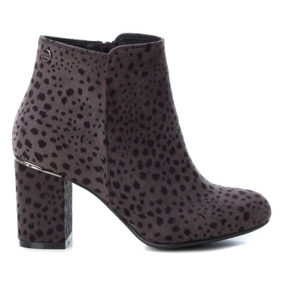 Black Leopard Ankle Boot