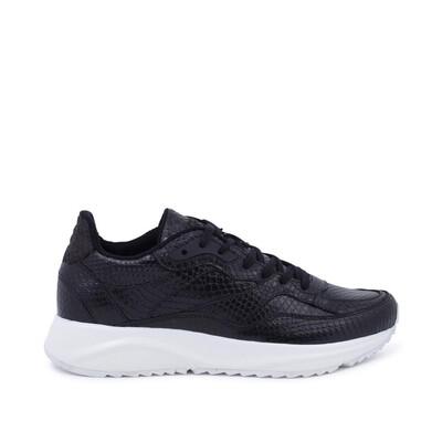SOPHIE SNAKE - Black Sneaker