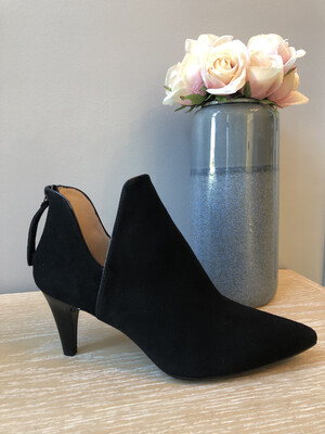 Kertin Black Suede Cut out Bootie