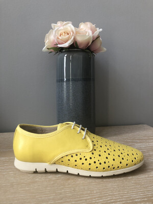 Yellow Laced Comfort Light Shoe