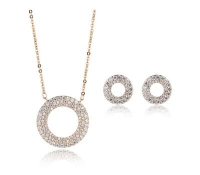 L264SHA Adelynn Rose Gold Necklace & Earring Set
