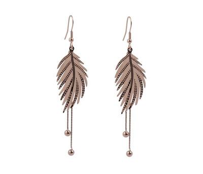N179EMS Leaf Earrings