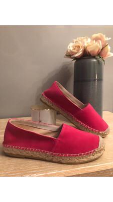 Hot Pink Flat Espadrille 0081