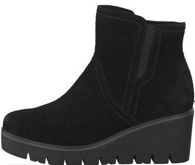 Black Suede Wedge Boot
