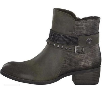 Grey Ankle Boot Stud Detail