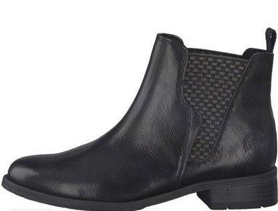 Black Ankle Boot Low Heel