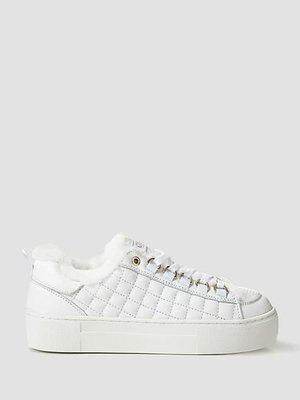 Meanit Quilted Leather Runner White