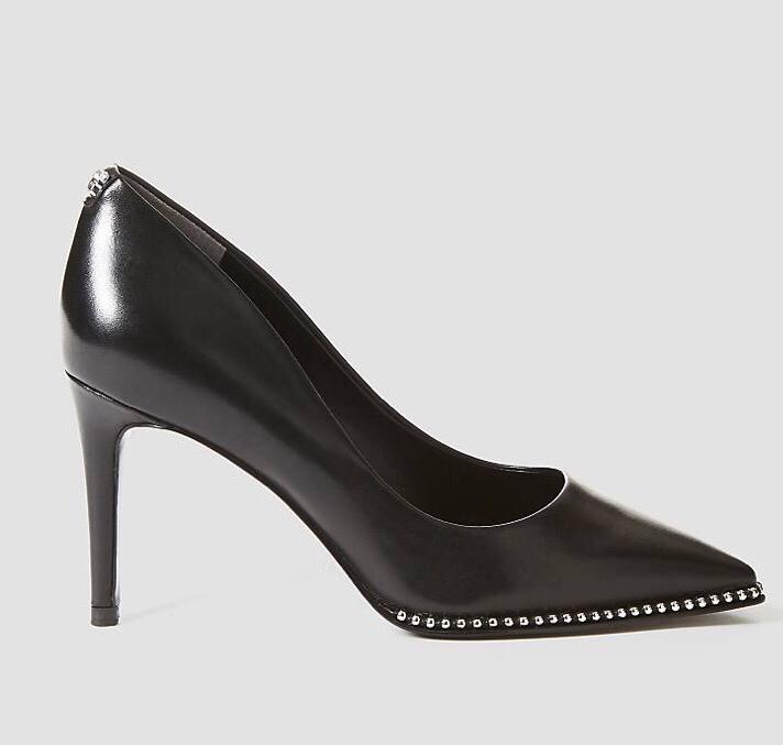 Braston Leather Court Shoe Black