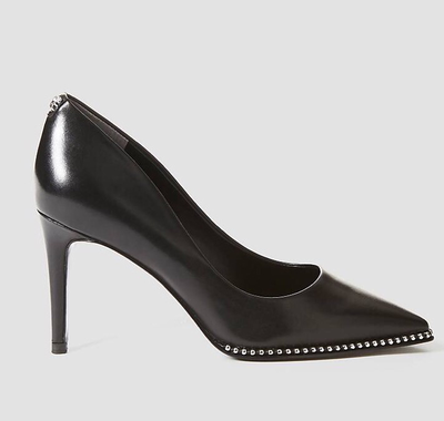 Braston Leather Court Shoe Black