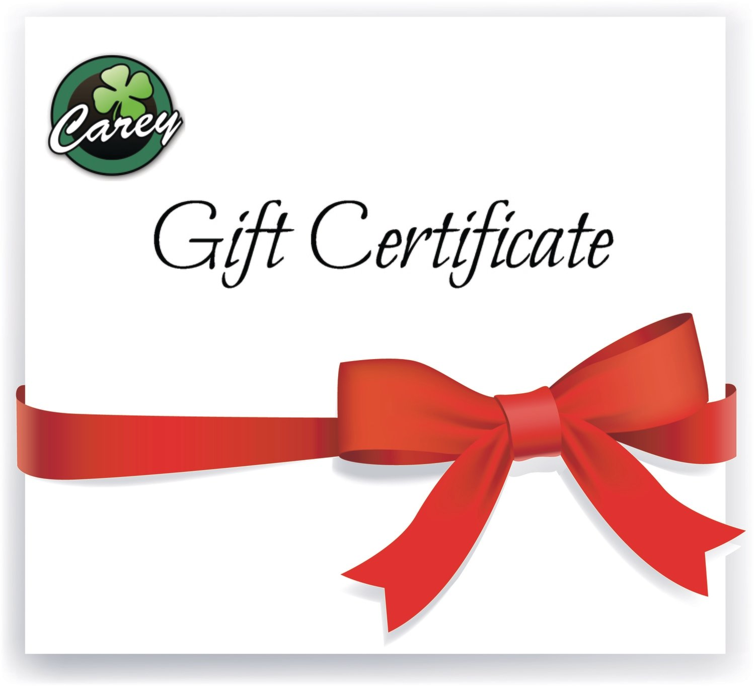 Gift Certificate from J. Carey Inc.