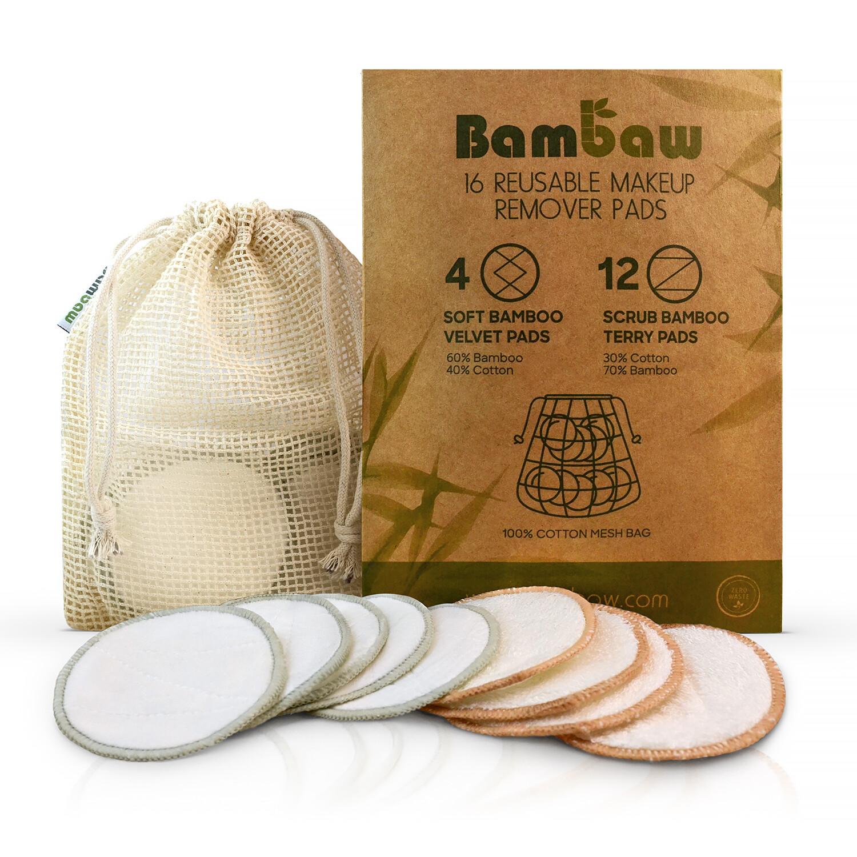 Abschminkpads Waschbar [16er Set] für die hautschonendste Reinigung - Nachhaltige Abschminktücher & Make Up Remover + kostenloses Wäschenetz