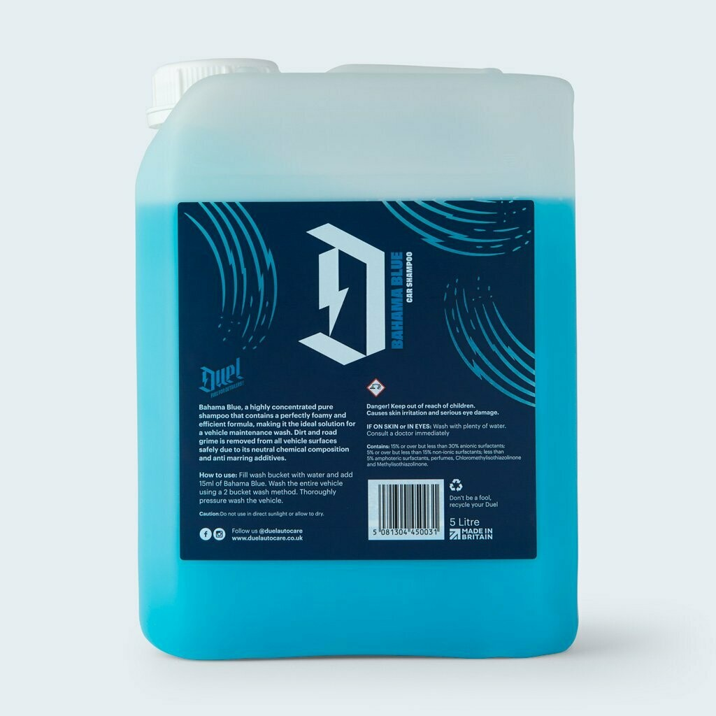 DUEL BAHAMA BLUE - HIGH CONCENTRATED SHAMPOO 5LTR
