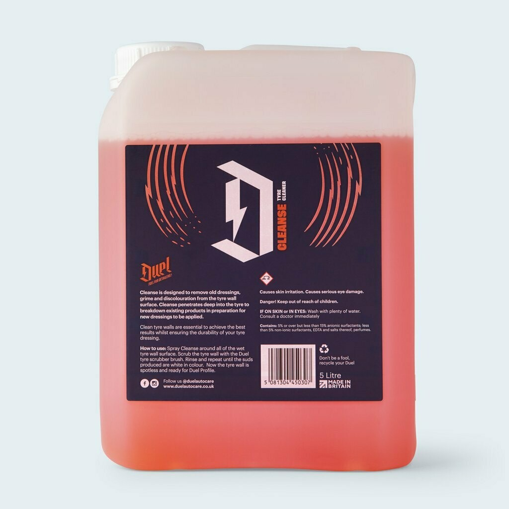 DUEL CLEANSE TYRE CLEANER 5LTR