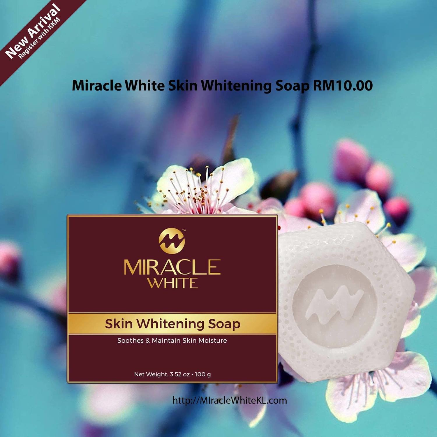 Miracle White Skin Whitening Soap