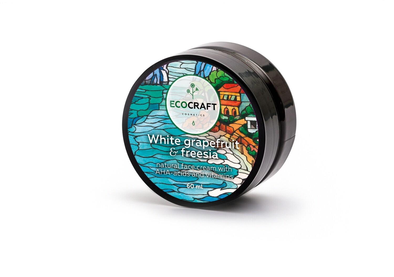 """Крем для лица с витаминами и АНА-кислотами для жирной и комбинированной кожи """"Белый грейпфрут и фрезия"""" ECOCRAFT"""