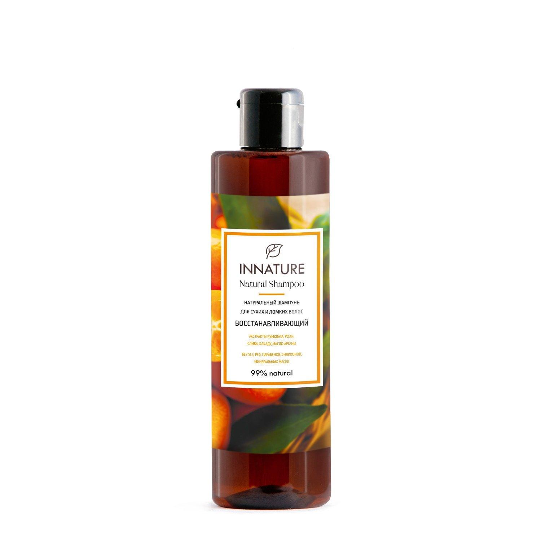 """Натуральный шампунь для сухих и ломких волос """"Восстанавливающий"""" INNATURE"""
