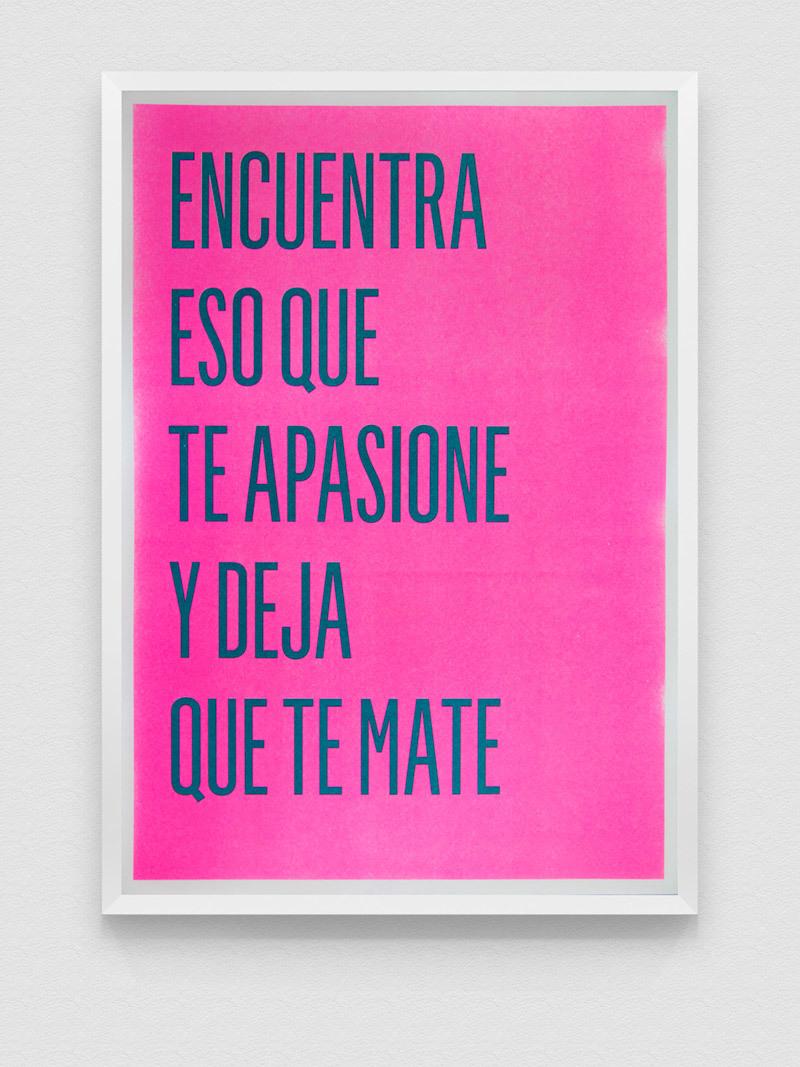 """Poster Risografía """"Encuentra"""" 18-01"""
