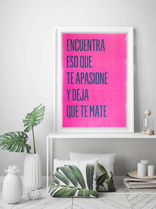 """Poster Risografía """"Encuentra"""""""