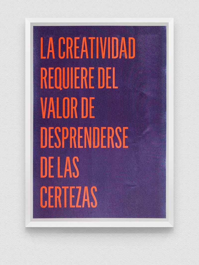 """Poster Risografía """"LaCreatividad"""" 18-02"""