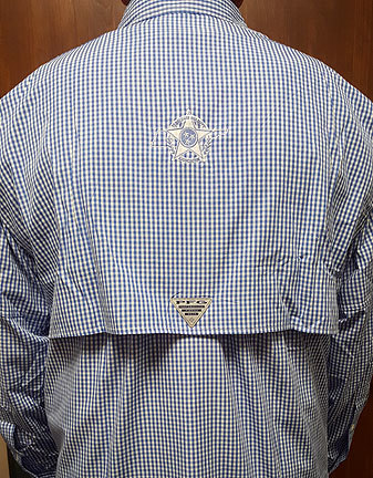 Columbia Bonehead Long Sleeve Blue Gingham 00005