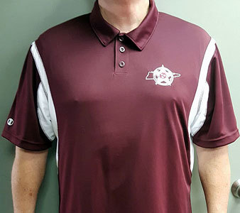 Holloway Dry Excel Polo (Limited quantity) - Maroon & White 00002