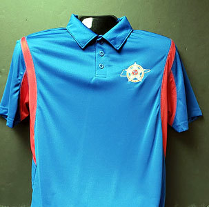 Holloway Dry Excel Polo - Royal & Scarlet 00008