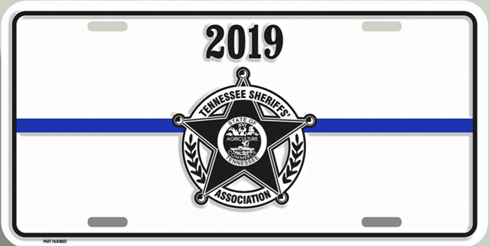 2019 TSA License Plate - White 00020