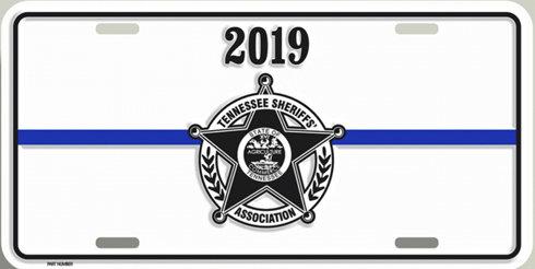 2019 TSA License Plate - White