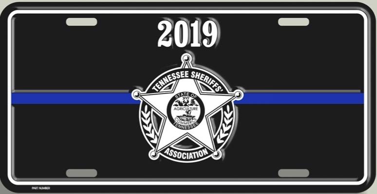 2019 TSA License Plate - Black 00021
