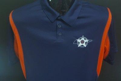 Holloway Dry Excel Polo - Navy & Orange