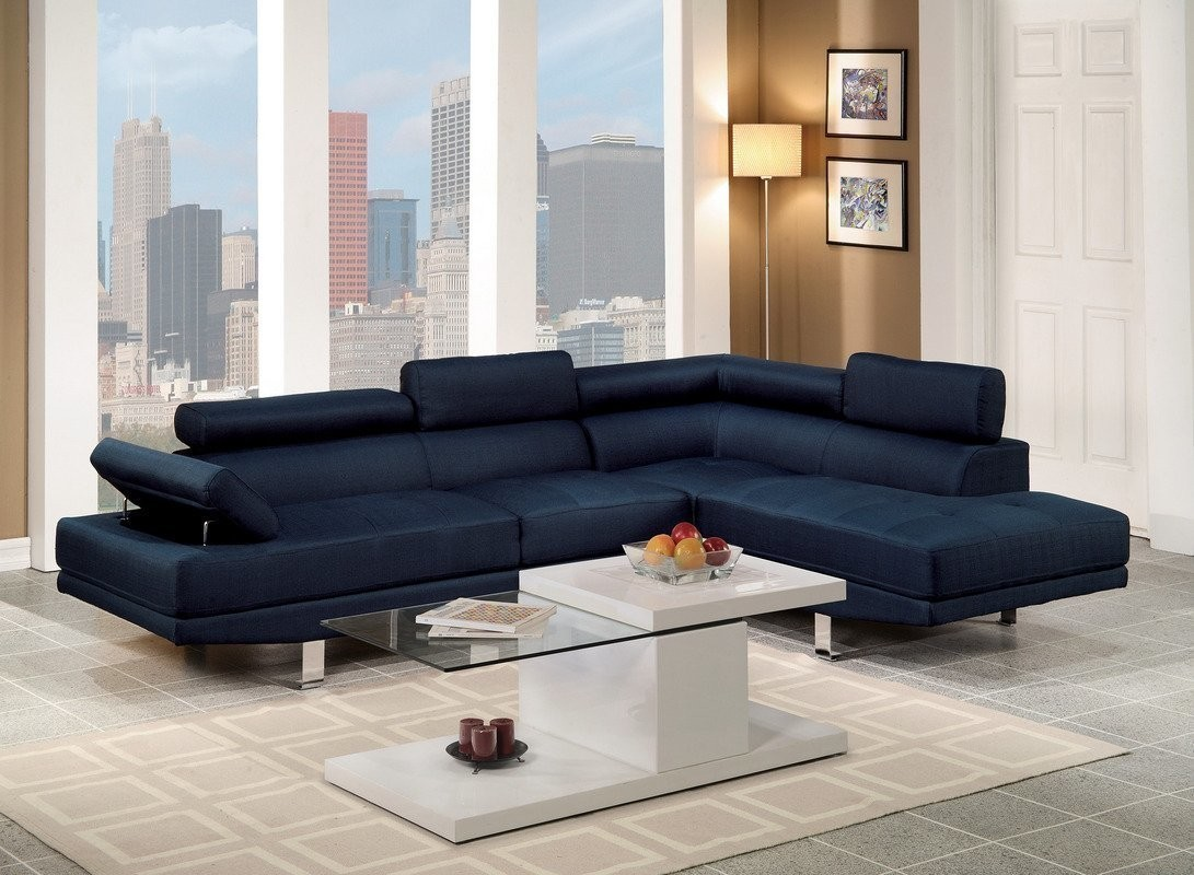 Super Blue Sectional Sofa Set Right Facing Chaise Short Links Chair Design For Home Short Linksinfo