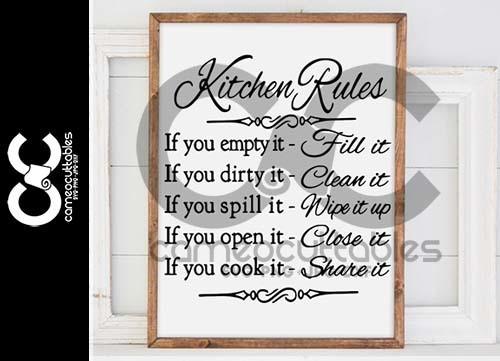 Kitchen Rules SVG,JPG,PNG,DXF