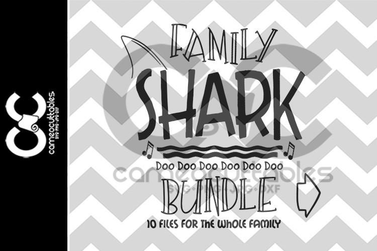 Family Shark Bundle  SVG,JPG,PNG,DXF