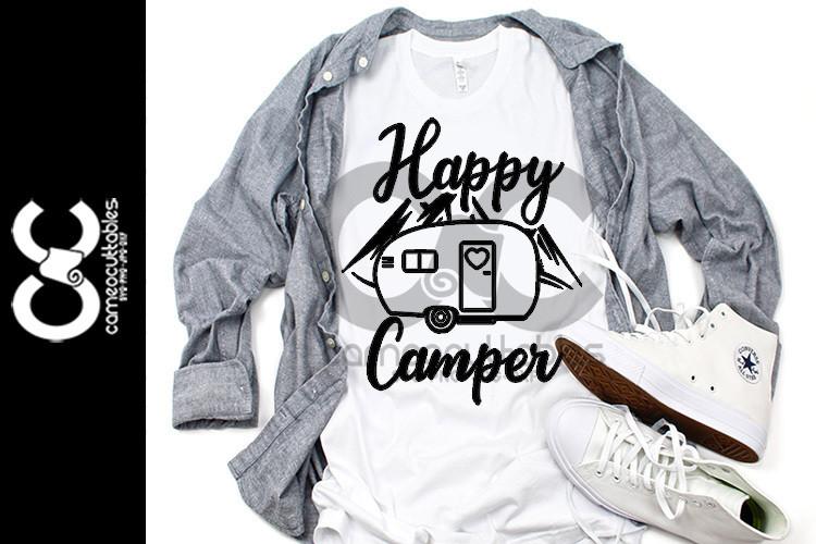 Happy Camper SVG,JPG,PNG,DXF