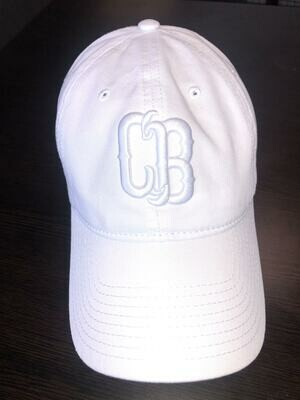 White On White CB Hat Adj
