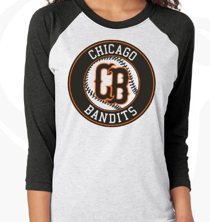 Softball Raglan Black