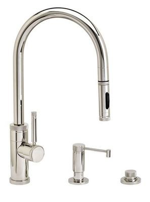 INDUSTRIAL PLP PULLDOWN FAUCET 3 PIECE SUITE– TOGGLE SPRAYER