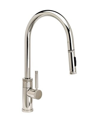 INDUSTRIAL PLP PULLDOWN FAUCET – ANGLED SPOUT -  TOGGLE SPRAYER