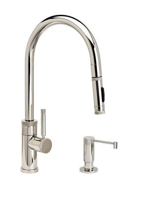 INDUSTRIAL PLP PULLDOWN FAUCET – ANGLED SPOUT -  TOGGLE SPRAYER - 2 piece Suite