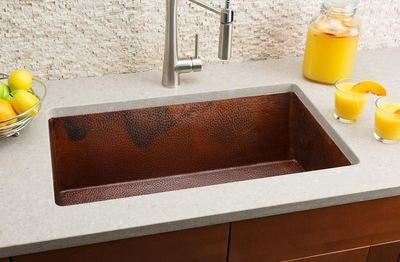 Hahn Copper Large Single Bowl Sink Copper Series