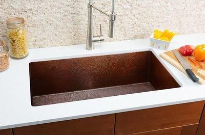 Hahn Copper Medium Single Bowl Sink Copper Series