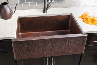 Hahn Copper Extra Large Single Bowl Sink Copper Series